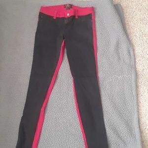 Royal Bones dual colored skinny jeans